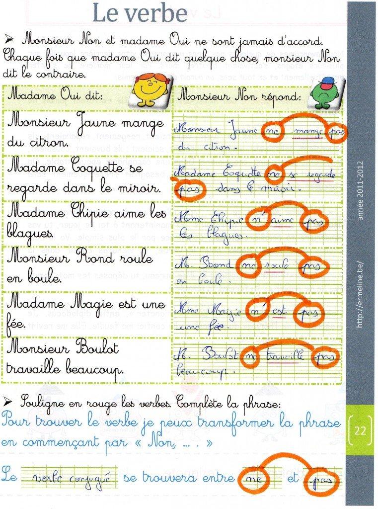 monsieur-non-et-le-verbe grammaire dans Français